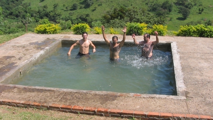 After we finished, we jumped into the natural pool!