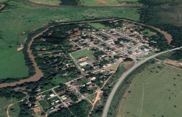 Imagem de satélite do distrito cristalinense de São Bartolomeu